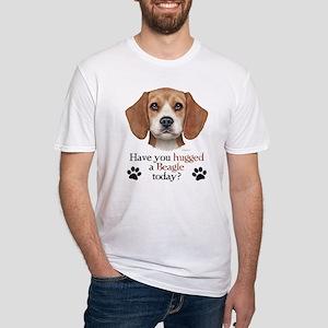 Beagle Hug Fitted T-Shirt