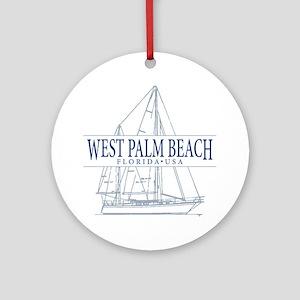 West Palm Beach - Ornament (Round)