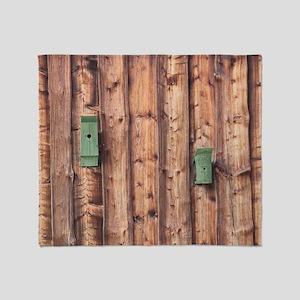 Birdhouses on a Log Wall Throw Blanket