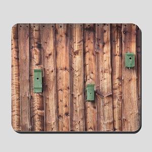 Birdhouses on a Log Wall Mousepad
