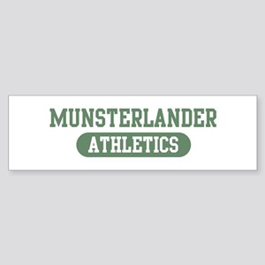 Munsterlander athletics Bumper Sticker