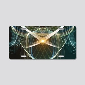 Abstract, colorful glowing lines Aluminum License