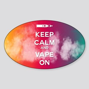 keep calm and vape on rainbow Sticker
