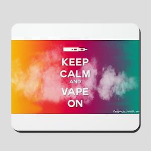 keep calm and vape on rainbow Mousepad
