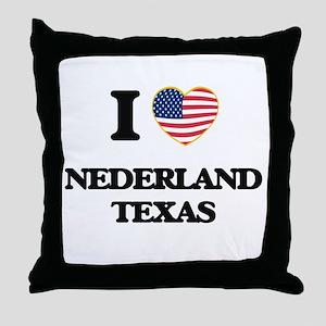 I love Nederland Texas Throw Pillow