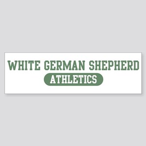 White German Shepherd athleti Bumper Sticker