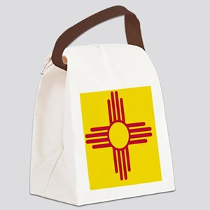 New Mexico State F|lag Canvas Lunch Bag
