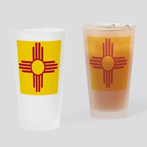 New Mexico State F|lag Drinking Glass