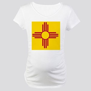 New Mexico State F|lag Maternity T-Shirt
