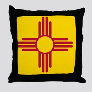 New Mexico State F|lag Throw Pillow