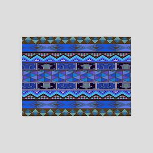 Blue Native 5'x7'Area Rug