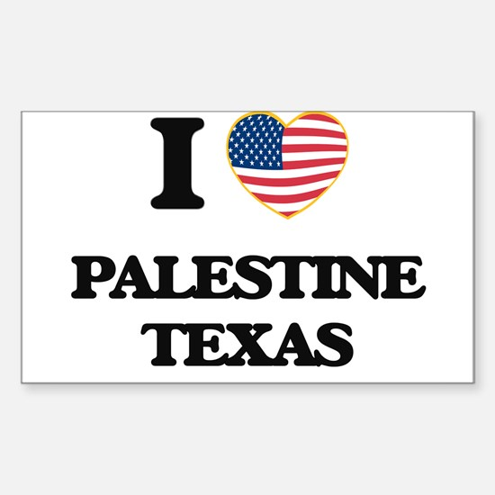 I love Palestine Texas Decal
