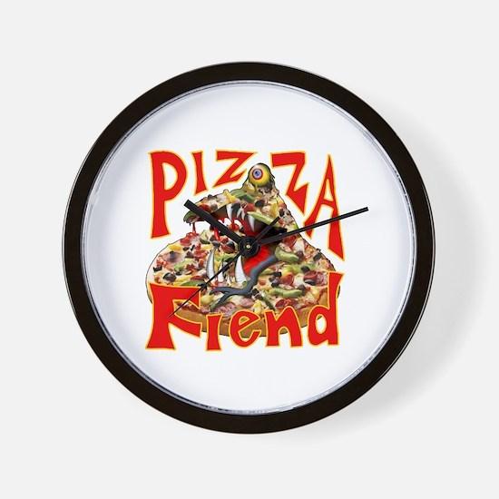 Pizza Fiend Wall Clock
