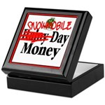 Snowmobile Day Money Keepsake Box