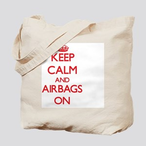 Keep Calm and Airbags ON Tote Bag