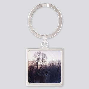 Whitetail Deer Winter Keychains