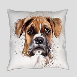 Boxer Painting Everyday Pillow