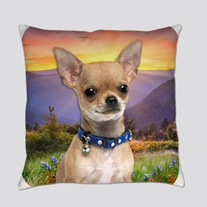 Chihuahua Meadow Everyday Pillow
