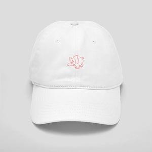 Elephant Outline Baseball Cap