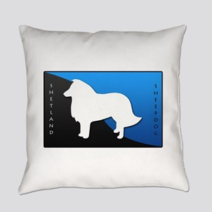 2-blueblack Everyday Pillow