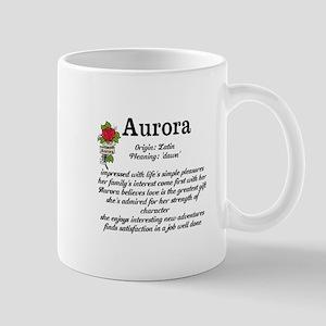 Aurora Name Meaning Design Mugs