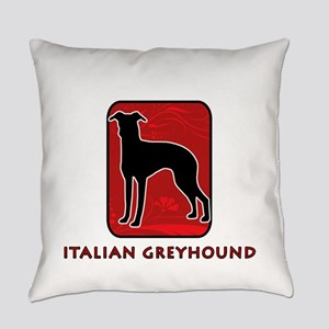 31-redsilhouette Everyday Pillow