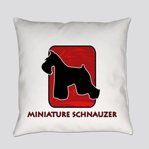 5-redsilhouette Everyday Pillow