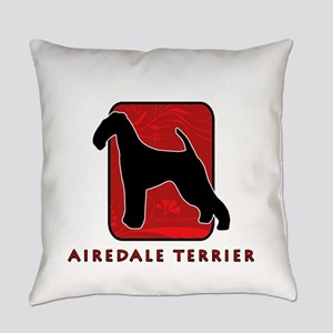 3-redsilhouette Everyday Pillow