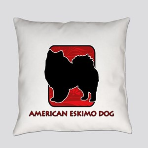 7-redsilhouette Everyday Pillow