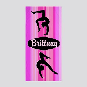 Pretty Pink Gymnast Beach Towel
