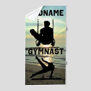 Talented Gymnast Beach Towel