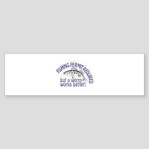 Permit Required Bumper Sticker