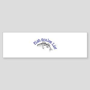 Fish Scales Lie Bumper Sticker