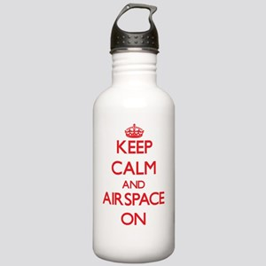 Keep Calm and Airspace Stainless Water Bottle 1.0L
