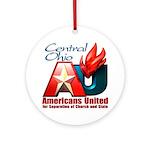 Americans United Ohio Ornament (Round)