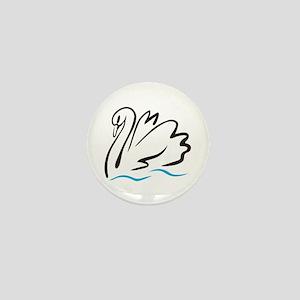 Swan Outline Mini Button