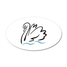 Swan Outline Wall Decal