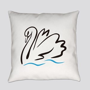 Swan Outline Everyday Pillow