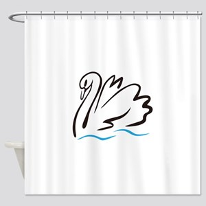 Swan Outline Shower Curtain
