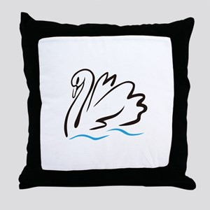 Swan Outline Throw Pillow