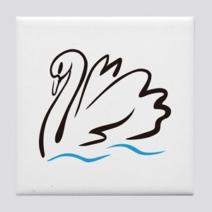 Swan Outline Tile Coaster