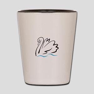 Swan Outline Shot Glass