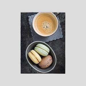 Macarons and coffee 5'x7'Area Rug