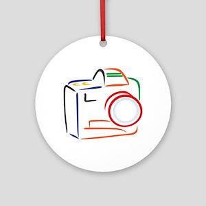 Camera Ornament (Round)