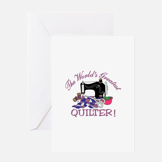 The Worlds Greatest Quilter Greeting Cards