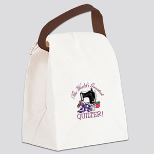 The Worlds Greatest Quilter Canvas Lunch Bag