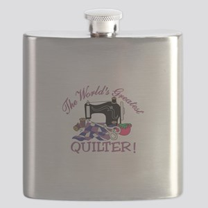 The Worlds Greatest Quilter Flask