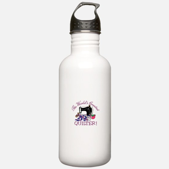 The Worlds Greatest Quilter Water Bottle