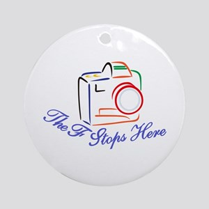 The F Stops Here Ornament (Round)