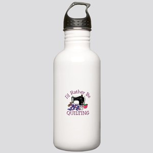Id Rather be Quilting Water Bottle